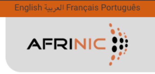 Sélecteur d'options multilingues AFRINIC