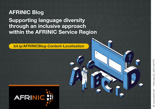 Supporting language diversity through an inclusive approach within the AFRINIC Service Region