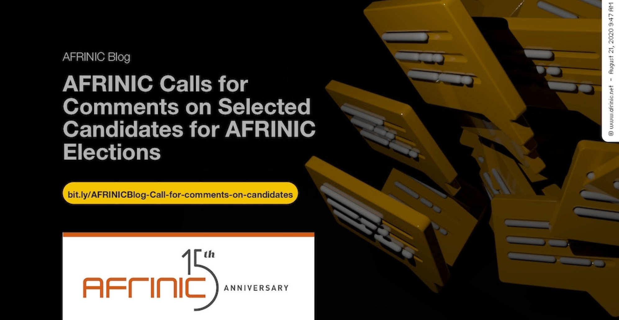 AFRINIC Calls for Comments on Selected Candidates for AFRINIC Elections