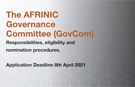 Call for Nominations - AFRINIC Governance Committee (GC) Members