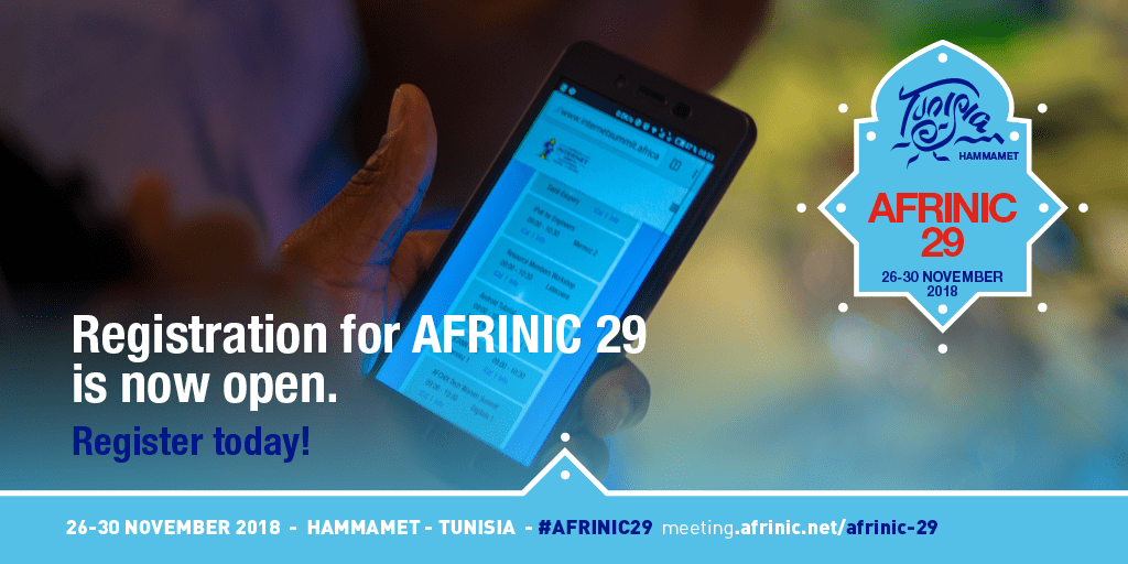 Registration for AFRINIC-29 is Open
