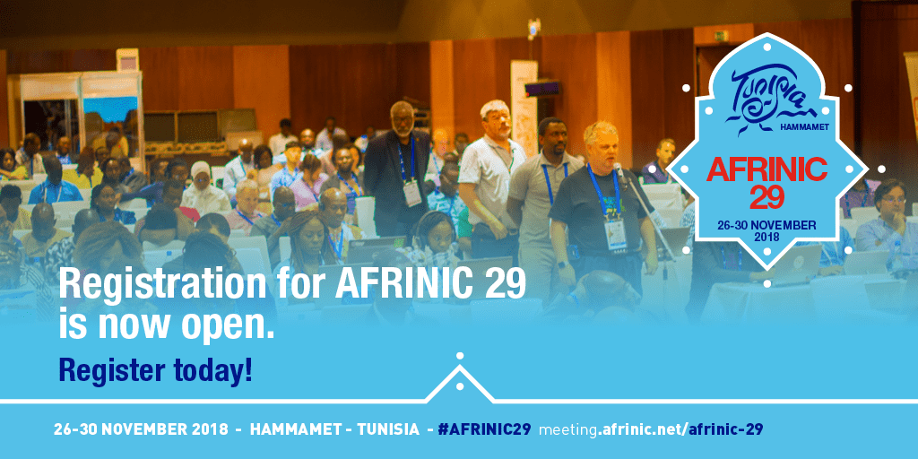 Tunisia to host the 29th AFRINIC public policy meeting