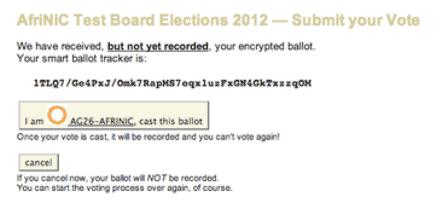 votação online 11