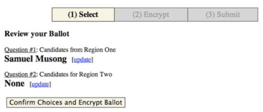 votação online 9