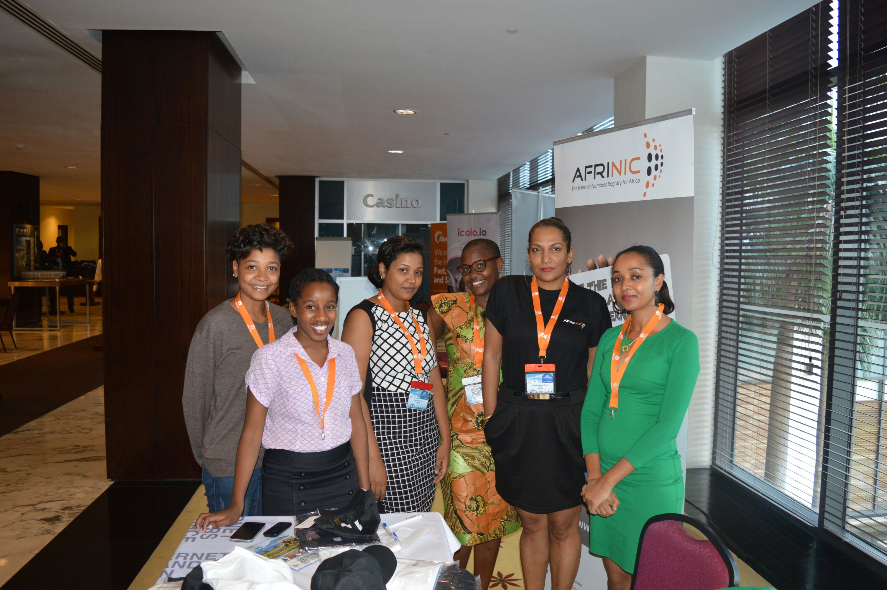 Techchix at Afrinic booth