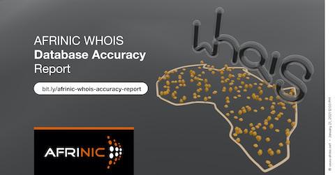 Relatório sobre AFRINIC's WHOIS Precisão do banco de dados